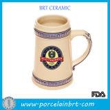 18.5 Oz Blue Rim Decoration Beer Mug