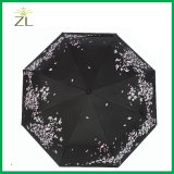 Cheap Custom Print Design Standard Size 23inch Color Changing Folding Umbrella for Adult