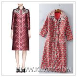 Spring Autumn Clothing for Women Fashion Printed Long Coat