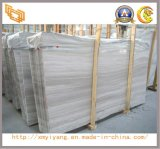 Chinese White Wooden Vein Marble for Flooring Tile and Slab