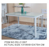 Elegant Glass and Metal Dining Table (RX-C1007)