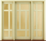 New Design Exterior Solid Wood Prehung Doors Contemporary Style