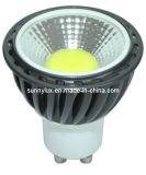 Aluminum 7W COB LED Spotlight GU10