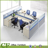 L Shaped 4 Seater Wooden Office Furniture Partition