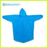 Disposable PE Hooded Sleeve Raincoat Rpe-064