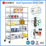 Chrome Plated Metal Restaurant Kitchen Wire Storage Shelving Rack