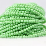 Lowest Price Peridot Colour Faux Imitation Pearls Necklaces