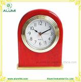 Hotel Wooden Silent Mahogany Color Table Alarm Clock