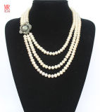 3 Strand Freshwater Pearl Necklace Natural (EN1302)