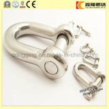 China Factory Supply Rigging Hardware Stainless Steel 4mm Steel Shackle