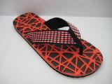 Wide Strap Shoelace EVA/PVC Flip Flops Comfortable Slippers (22FL902)
