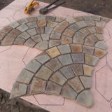 Popular Golden White Natural Stone Mesh Slate (SMC-R041)