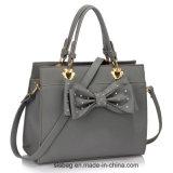 New Trendy Diamond-Studded Women Handbag Grey Bow Tie Grab Bag