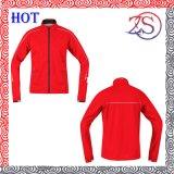 Mens High Collar Zip up Red Polar Fleece Jacket