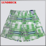 Children's Plaid Board Shorts for Summer Wear