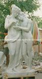 Marble Carved Three Ladies Sculpture