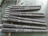 Double Twin Screw and Barrel Used for PVC Pipes / Cincinnati Twin Conical Barrel and Screw Used for Plastic Extruder