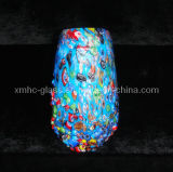 Murano Christmas Ornament Glass Crystal Vase Crafts (XMHCV-361)