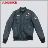 Fashion Men's PU Jacket in Competitive Price
