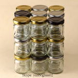 30ml Clear Glass Honey Jar for Pickle with Screw Lids