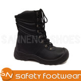 Black Leather Army Military Boots (sn1232)