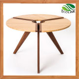 New Designer Small Round Coffee Table with Bamboo