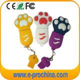 PVC Dog Feet Shape Colorful Keychain USB Flash Drive (EP283)