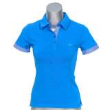 Ladies Cotton Pique Short Sleeve Polo T Shirt