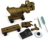 Airsoft Acog 4X32 Scope with Auto on/off Mini DOT Sight