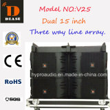 2016 Hot Sale V25 Three Way Line Array Speaker Dual 15""