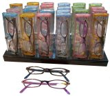 Fashion Plastic Reading Glasses With Display and Case (RS114)