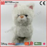 Realistic Plush Toy Stuffed Animal White Cat