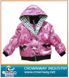 Girl′s Lovely Down Jacket with Shining Shell Fabric