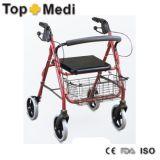 Medical Supplies Walking Aid with Big Basket for Older