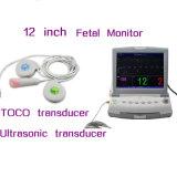 Single Twins Optional 12 Inch Multi Parameter Fhr Toco FM Fetal Monitor Nst Ctg Detecting Fetus Fetal Movement -Maggie