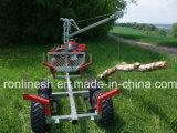 1000kgs ATV/Quad/UTV/Sidexside Tow Behind Galvanized Lumber/Log/Timber Trailer Max Log Lenth 4m CE