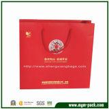 High Quality OEM Red Rectangle Paper Gift Handbag