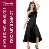 Woman Black Lingerie Gown Dress (L5051)