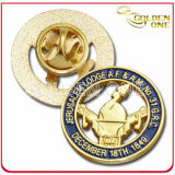 High Quality Die Stamped Engraved Gold Plated Metal Lapel Pin