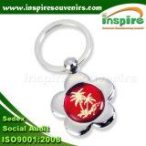Flower Metal Key Chain for Souvenir Gift (K421CD)
