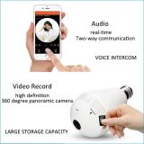 Wireless 360 Degree Panoramic Camera bulb Type IP Camera Fish-Eye Home Security Equipment IP Camera