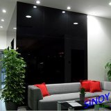 Sinoy 2mm- 6mm Ral 9005 Black Lacquered Glass/ Back Painted Glass, Double Coated with Fenzi Paints