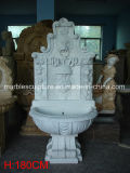 Hand Carved White Marble Wall Fountain (SY-WF002)