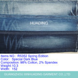 Cotton Denim Yarn Dyed Fabric for Fashion Shirt Garment (R5352)