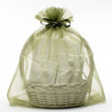 Wholesale Organza Favor Bags 6X9′′ Light Blue Organza Candy Pouch