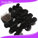 100% Indian Hair Lace Closure and Hair Extension/Weft
