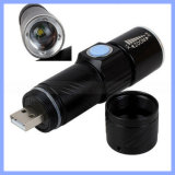 Rechargeable 700lm CREE Q5 LED Zoom USB Flashlight