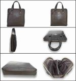Men′s Coffee Business Genuine Leather Handbag