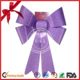 Large Outdoor Purple Glitter Poly Ribbon Butterlfy Bow for Gift Wrapping