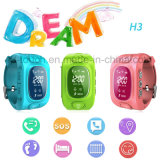 Multifunctions Smart Kids GPS Tracker Watch with Tirple Position H3